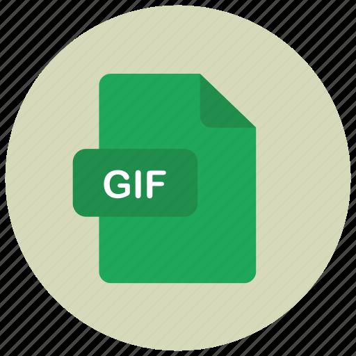 extension, file, gif, type icon