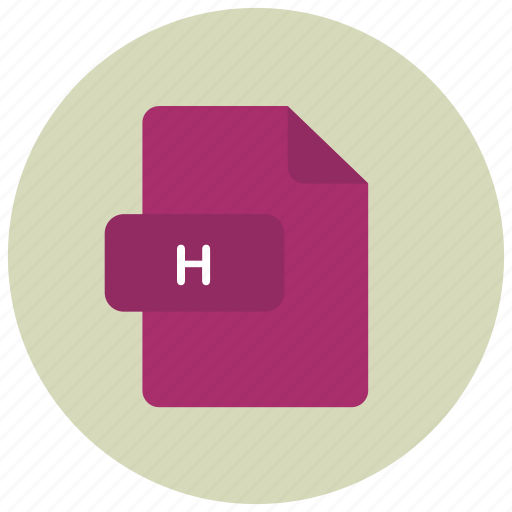 extension, file, h, type icon