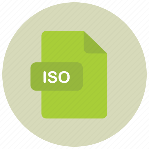 extension, file, iso, type icon