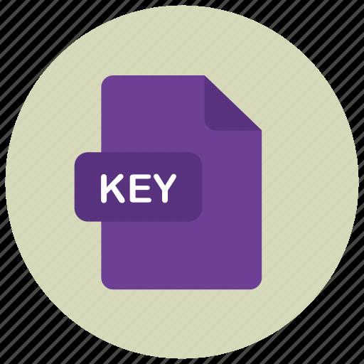 extension, file, key, type icon