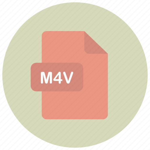 extension, file, m4v, type icon