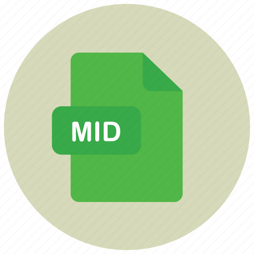 extension, file, mid, type icon