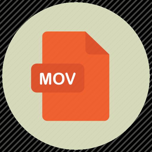 extension, file, mov, type icon