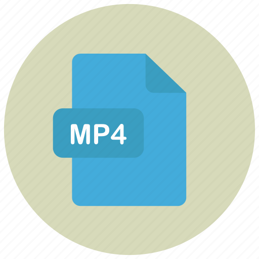 extension, file, mp4, type icon