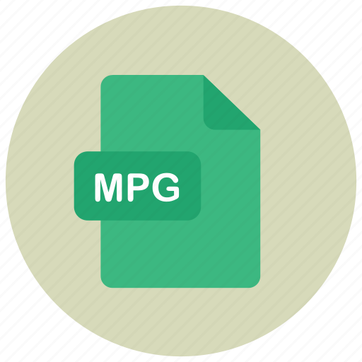 extension, file, mpg, type icon