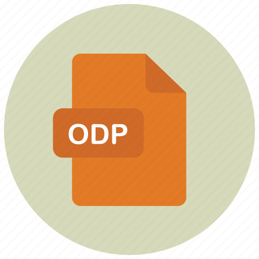 extension, file, odp, type icon