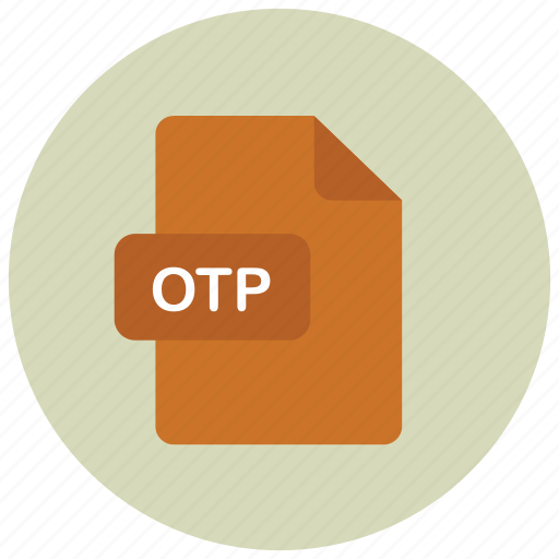 extension, file, otp, type icon