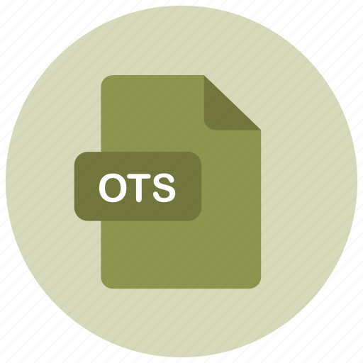 extension, file, ots, type icon