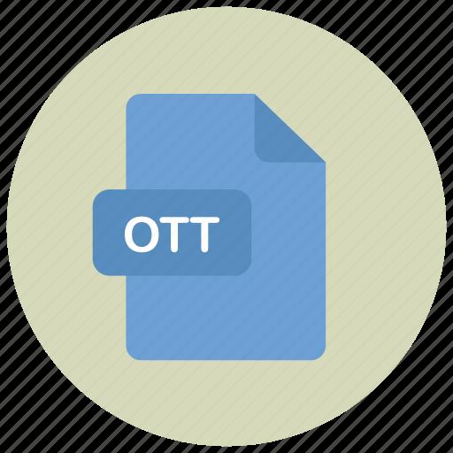 extension, file, ott, type icon