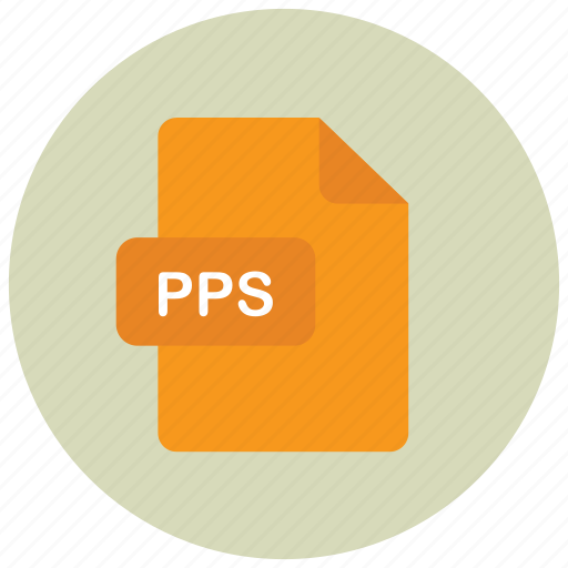 extension, file, pps, type icon
