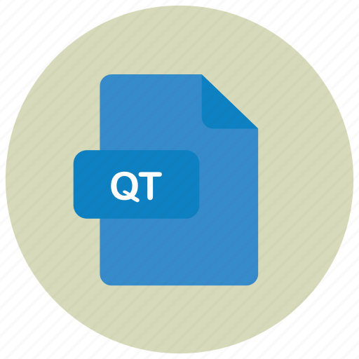 extension, file, qt, type icon