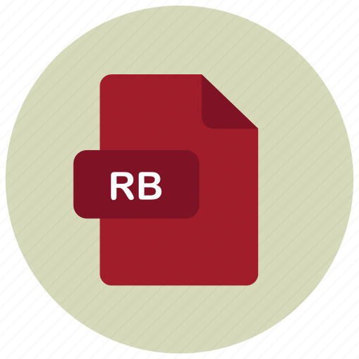 extension, file, rb, type icon