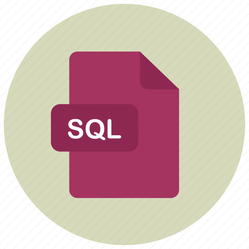 extension, file, sql, type icon