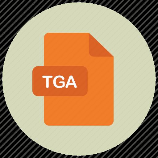 extension, file, tga, type icon