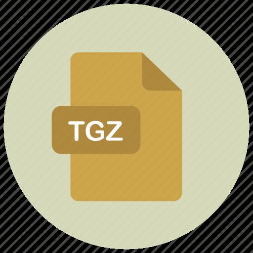 extension, file, tgz, type icon