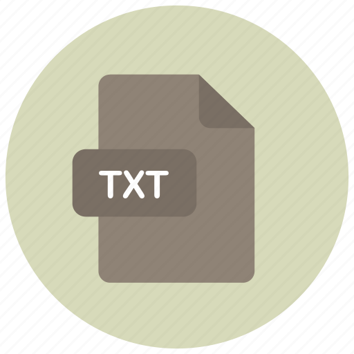 extension, file, txt, type icon