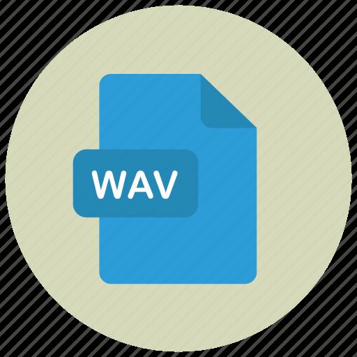 extension, file, type, wav icon