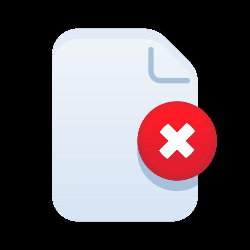 delete, document, file, filetype, paper, remove icon