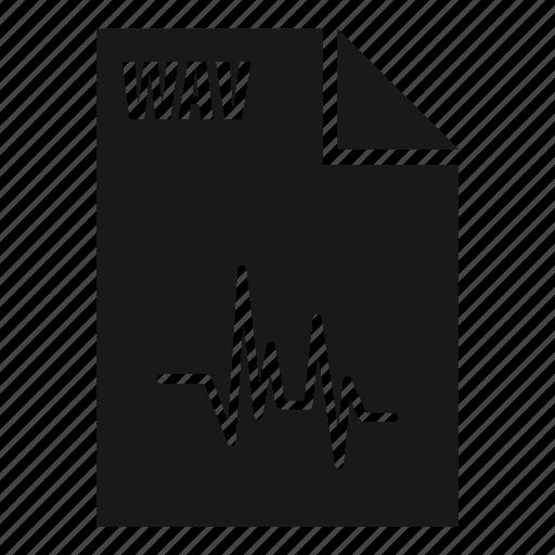 audio, extension, file, filetype, sound, wav, wave icon