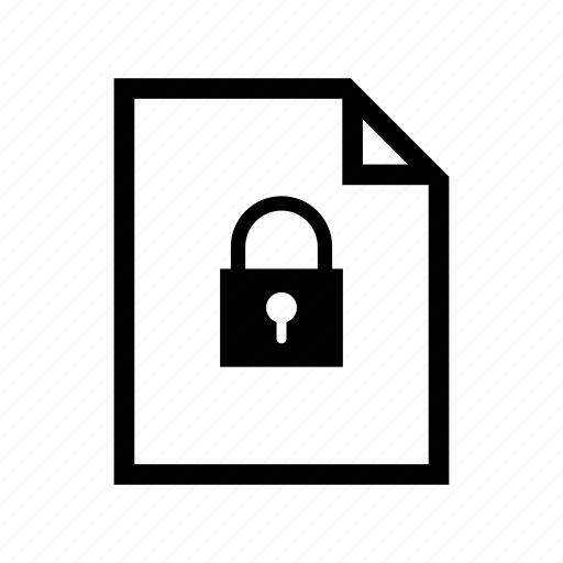 encrypted, file, filetype, password, protected, secure, security icon