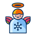 angel, christmas, decorate, decoration, wings, winter icon
