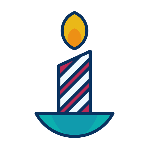 candle, decoration, fire, flame icon