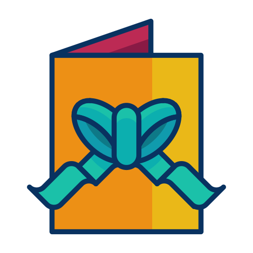 bow, card, christmas, greeting, ribbon icon