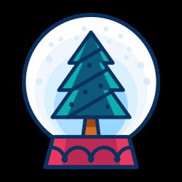 christmas, decorate, decoration, snowglobe, tree icon