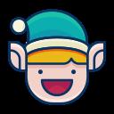 elf, emoji, emoticon, happy, smile, smiley