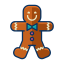 christmas, cookie, dessert, gingerbread, man, sweet icon