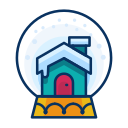 christmas, decorate, decoration, house, snowglobe icon