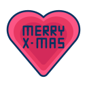 christmas, favourite, heart, love, merry icon