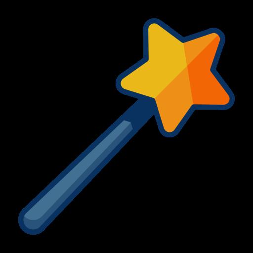 christmas, design, magic, magician, tool, wand icon