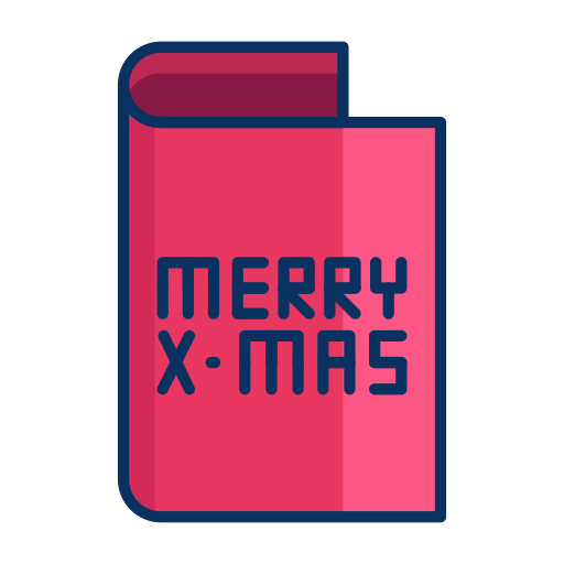 card, christmas, greeting, merry icon