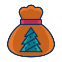 bag, christmas, gift, present, tree icon