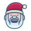 emoji, emoticon, happy, santa, smile, smiley icon