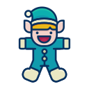 elf, happy, helper, person, santa, toy icon