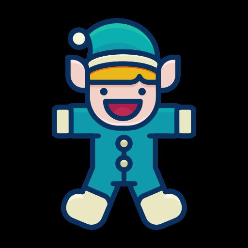 elf, happy, helper, person, santa, toy icon