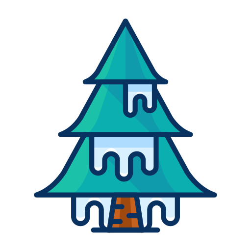 cold, forest, ice, snow, tree, winter icon