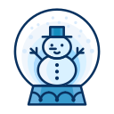 decorate, decoration, man, snow, snowglobe, snowman icon