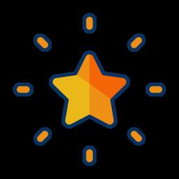 christmas, decorate, decoration, star, tree icon