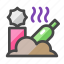 contamination, rubbish, rotten, garbage, environment icon