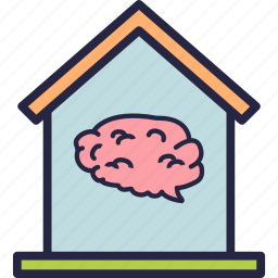 automation, brain, home, house, smart icon