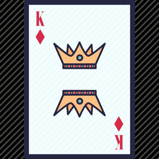 card, casino, king, poker icon