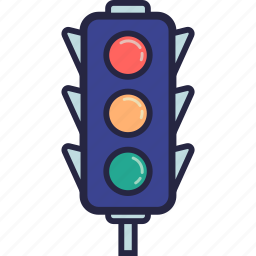 code, highway, light, signal, traffic icon