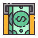 atm, banking, cash out, dollar, finance, income, money icon