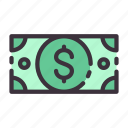 banking, business, currency, dollar, finance, income, money icon