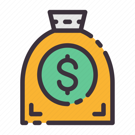 bag, dollar, income, investments, money, pay, salary icon