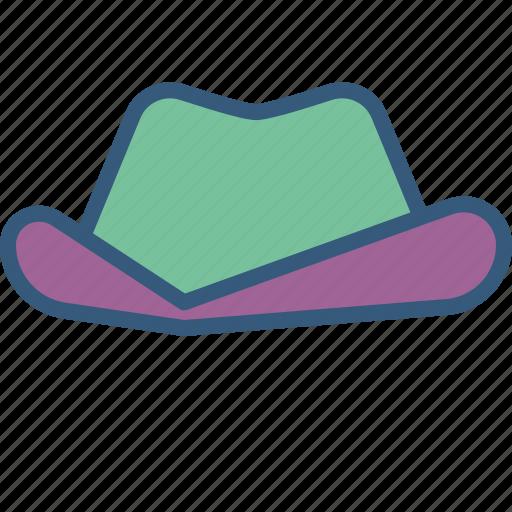 accessory, clothing, cowboy, fashion, hat, man icon