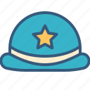 accessory, clothing, fashion, hat, police icon